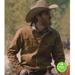 YELLOWSTONE DAVE ANNABLE (LEE DUTTON) BROWN COTTON JACKET