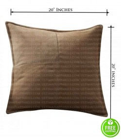 DARK BROWN SUEDE LEATHER PILLOW
