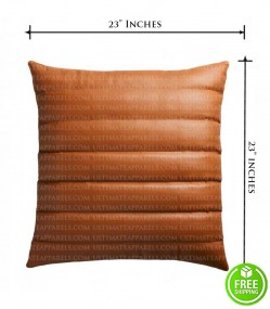 QUILTED LEATHER PILLOW