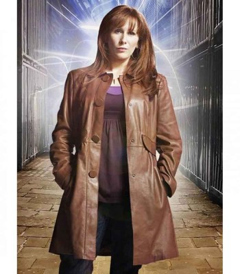 DOCTOR WHO CATHERINE TATE (DONNA NOBLE) LEATHER COAT