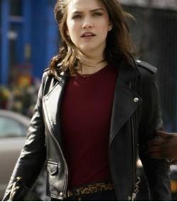 God Friended Me Violett Beane Leather Jacket