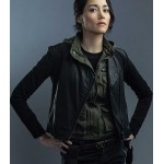 HOSTAGES SANDRINE HOLT LEATHER JACKET