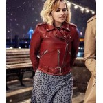LAST CHRISTMAS EMILIA CLARKE RED JACKET