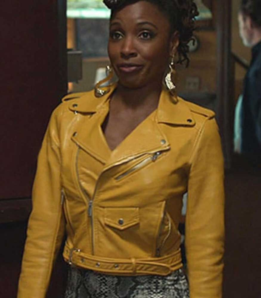 SHAMELESS SHANOLA HAMPTON YELLOW JACKET