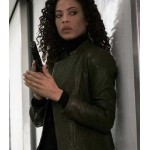 THE BLACKLIST REDEMPTION TAWNY CYPRESS GREEN JACKET