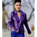 VOX LUX NATALIE PORTMAN PURPLE LEATHER JACKET