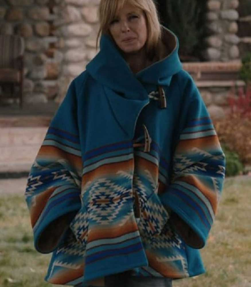 YELLOWSTONE BETH DUTTON BLUE COAT