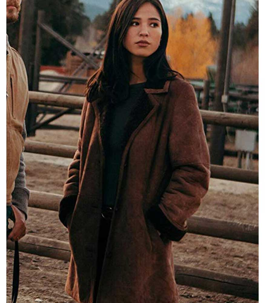 YELLOWSTONE MONICA DUTTON SHEARLING COAT