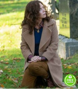 BOOKS OF BLOOD ANNA FRIEL (MARY) BROWN WOOL TRENCH COAT