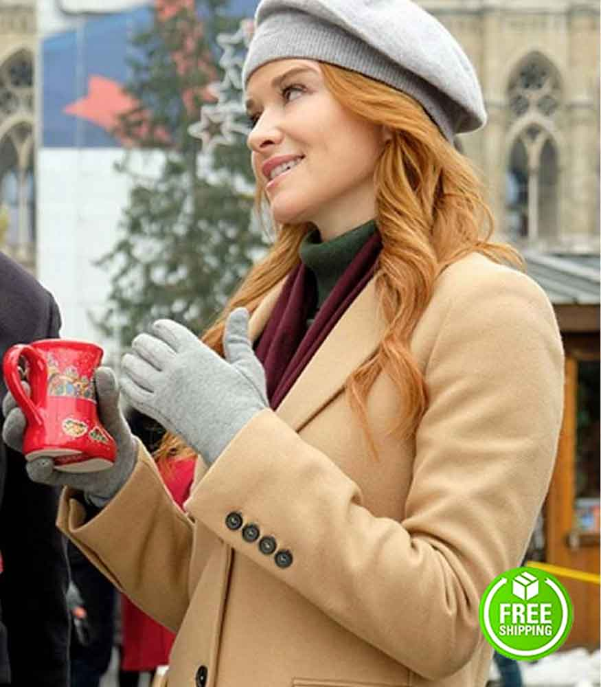 CHRISTMAS IN VIENNA SARAH DREW (JESS WATERS) WOOL TRENCH COAT