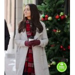 DASHING HOME FOR CHRISTMAS PANIZ ZADE (EMILY) WHITE TRENCH COAT