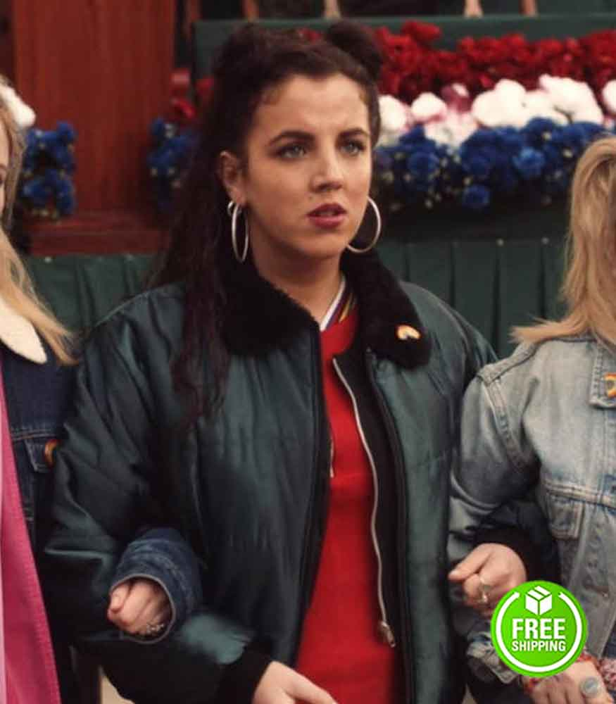 DERRY GIRLS JAMIE-LEE O'DONNELL (MICHELLE MALLON) BLACK BOMBER JACKET