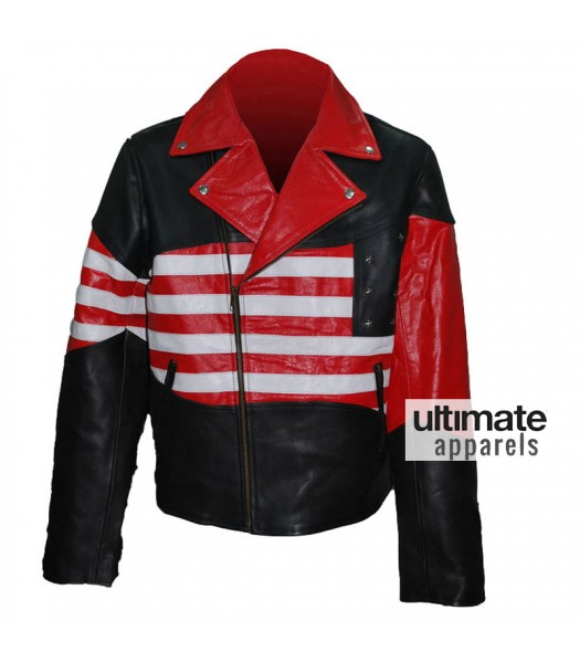 American Flag Men's Motorcycle Leather Jacket