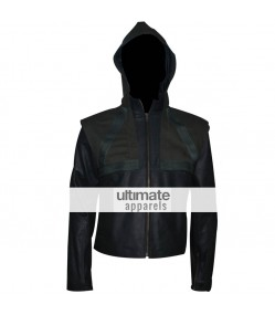 Arrow Oliver Queen (Stephen Amell) Hooded Costume Jacket