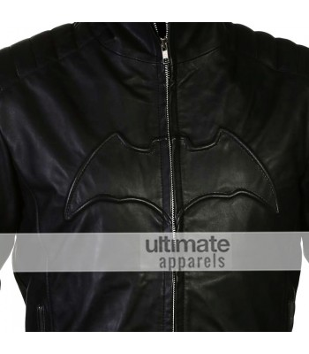 Batman Begins Christian Bale Bruce Wayne Black Jacket