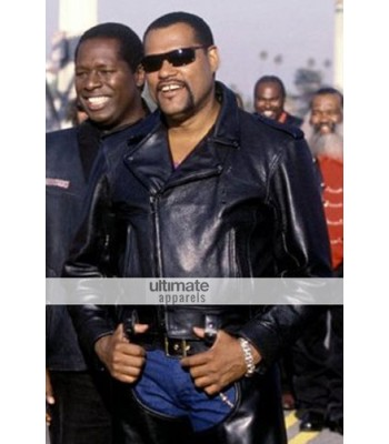 Biker Boyz (Laurence Fishburne) Smoke Black Biker Jacket