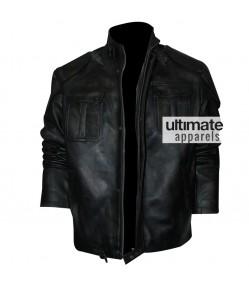 Cafe Racer Men's Black Distressed Motorcycle Jacket