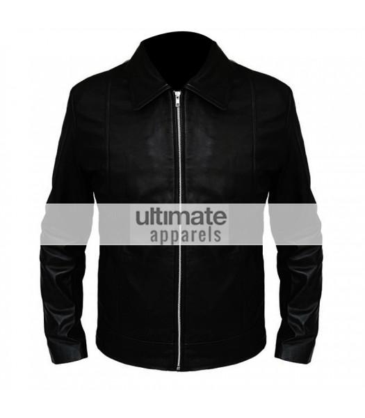 Californication Hank Moody Black Leather Jacket
