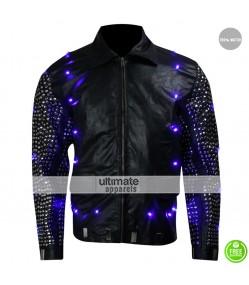Chris Jericho Light Up WWE Replica Black Leather Jacket