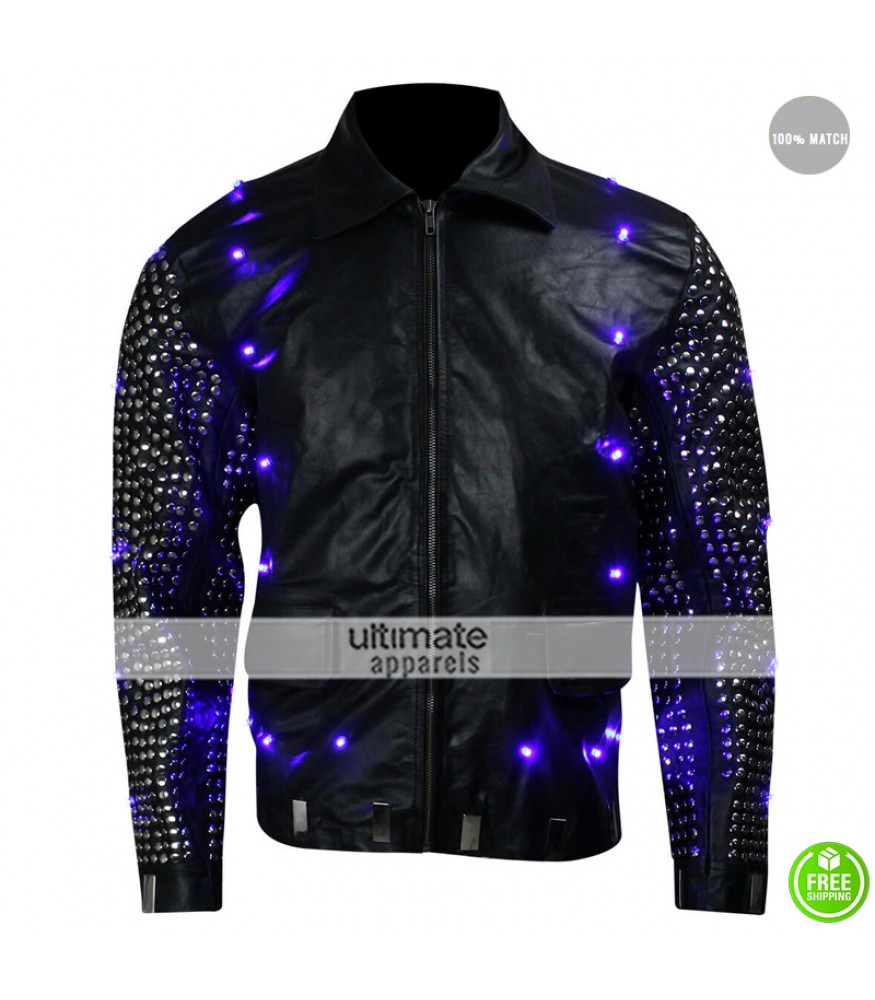 Chris Jericho Light Up WWE Replica Black Leather Jacket