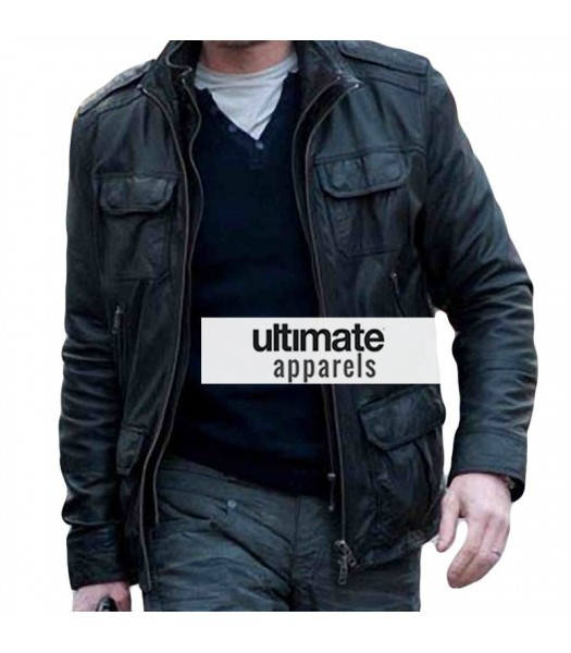 Cleanskin Sean Bean (Ewan) Black Leather Jacket