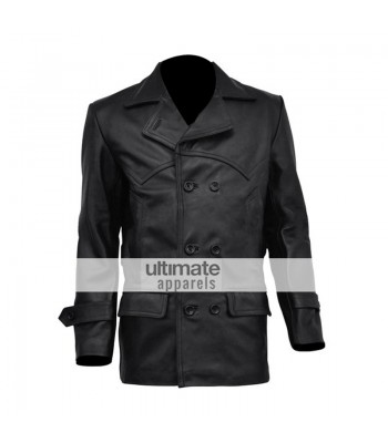 Doctor Who Christopher Eccleston Black Leather Jacket/Coat