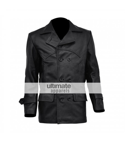 Doctor Who Christopher Eccleston Black Leather Jacket/Coat