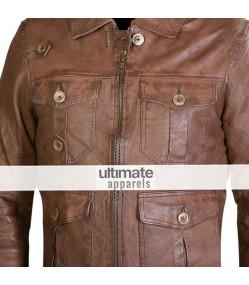 Expendables Jason Statham (Lee Christmas) Distressed Jacket