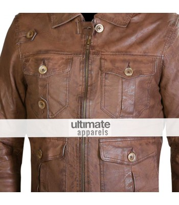 Expendables Jason Statham (Lee Christmas) Distressed Jacket