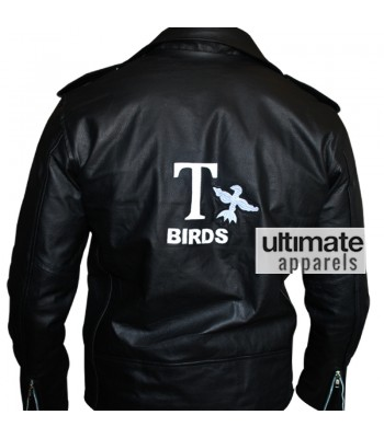 Grease John Travolta Danny Zuko T Bird Biker Jacket