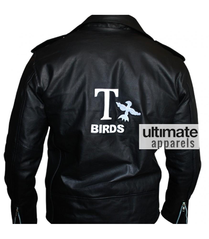 Grease John Travolta Danny Zuko T Bird Biker Jacket