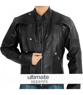 Peter Quill Chris Pratt Star-Lord Black Leather Jacket