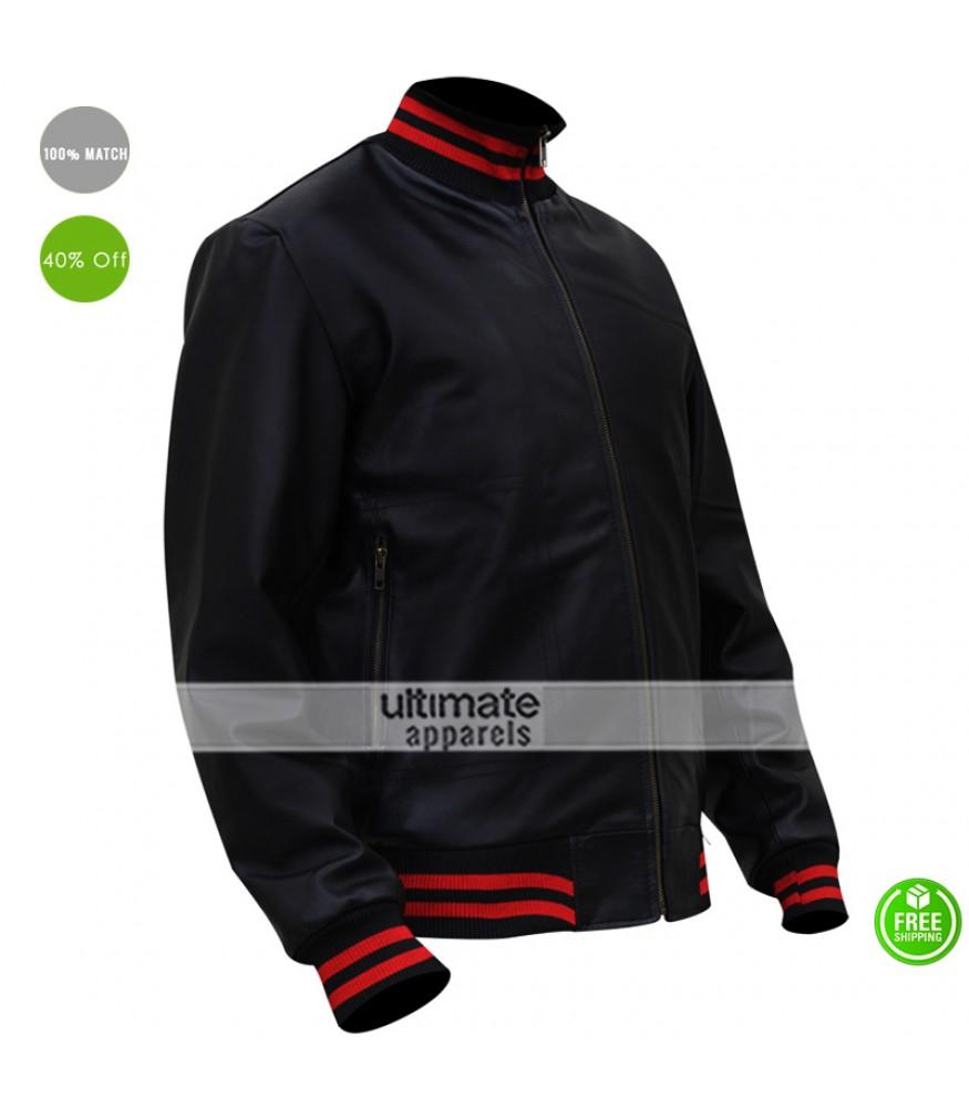 89bd504a0 Gucci Replica Eminem Not Afraid Leather Bomber Jacket