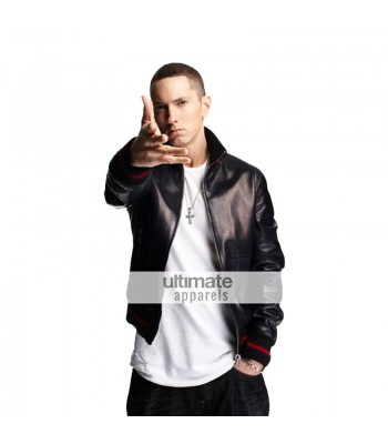 Gucci Replica Eminem Not Afraid Leather Bomber Jacket