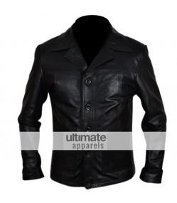 Killing Them Softly Brad Pitt Black Leather Jacket/Coat