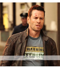 Lockout Guy Pearce Snow Distressed Brown Jacket