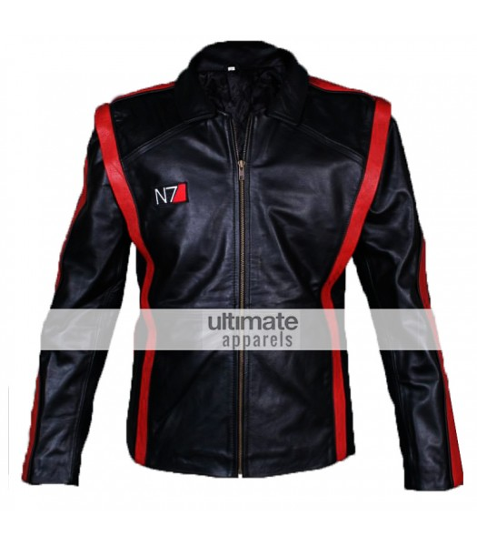 Mass Effect 3 Commander Shepard N7 Leather Jacket