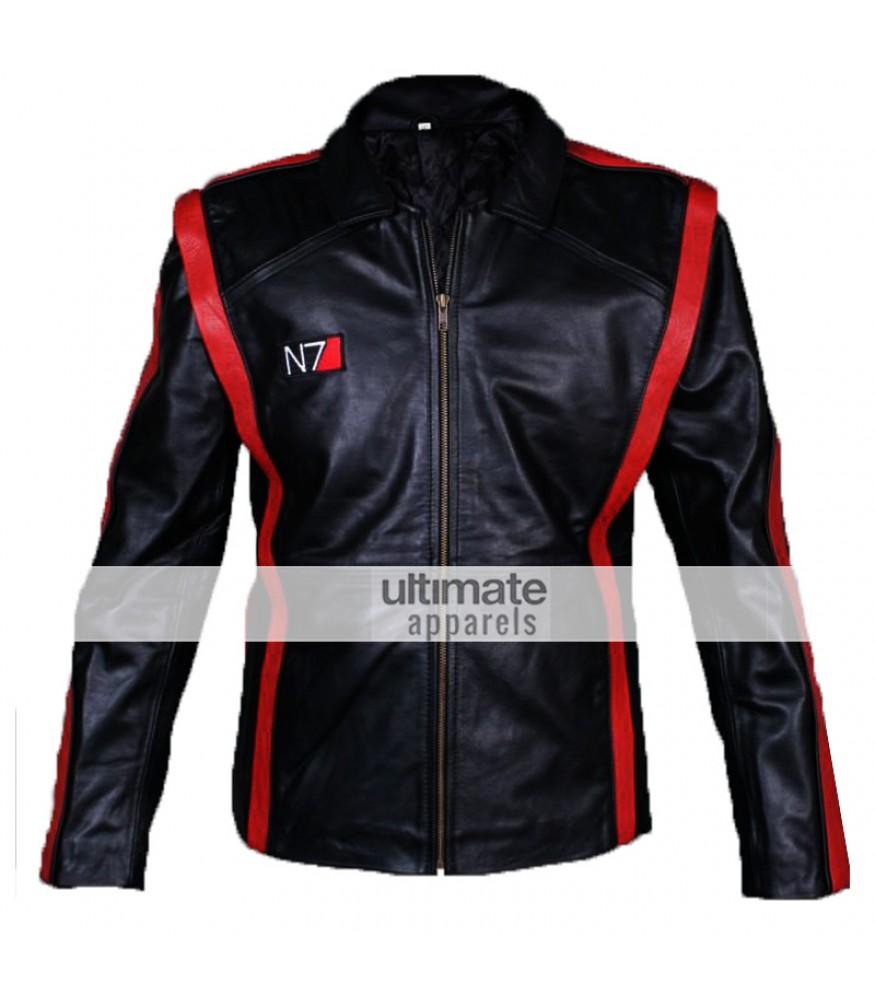 Mass Effect 3 Commander Shepard N7 Leather Jacket