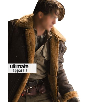 Mummy 3 Brendan Fraser Brown Trench Fur Jacket Costume