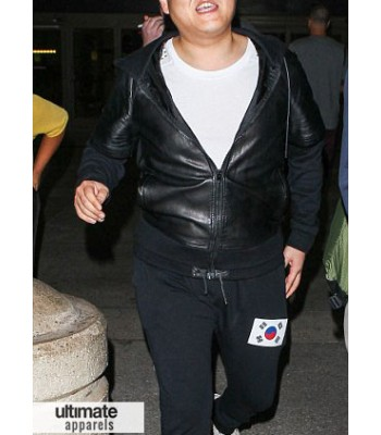 Psy Gangnam Style Star Black Hooded Jacket