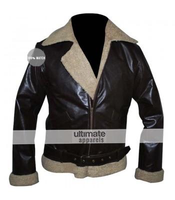 Rocky 4 Balboa Sylvester Stallone Bomber Shearling Jacket
