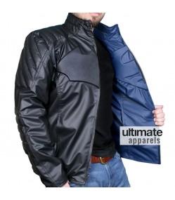Superman Vs Batman Blue and Black Reversible Faux Jacket