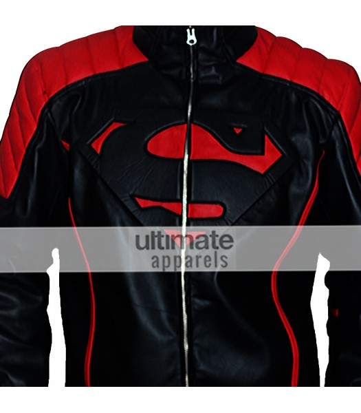 Classy Super Hero Man Black Jacket With Fancy Red Stripes