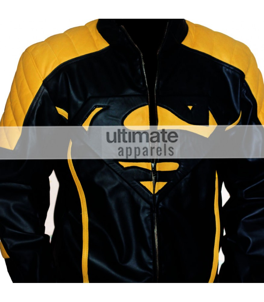 Leather jacket yellow stripe - Leather Jacket Yellow Stripe 8