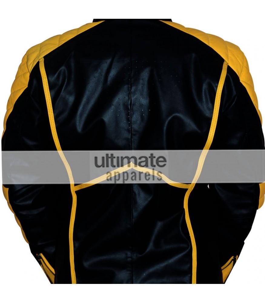 Leather jacket yellow stripe - Leather Jacket Yellow Stripe 29
