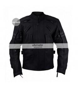 Arnik Armoured Black Motorycle Jacket For Men