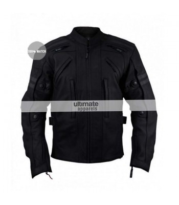 Arnik Armoured Black Motorycle Jacket For Men