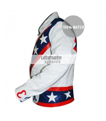 Evel Knievel Tribute White American Motorcycle Jacket Costume