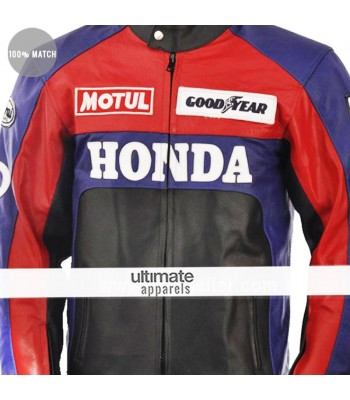 Honda Red and Black Motorcycle Replica Jacket