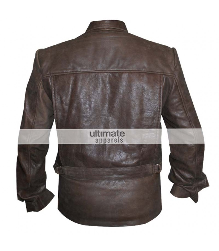 Distressed brown leather jackets